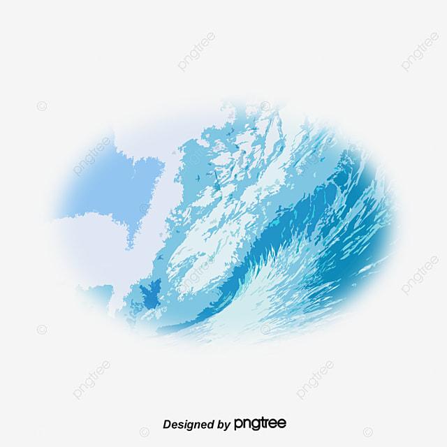 Vector Waves, Azul, Olas, Acuarela PNG Y Vector Para
