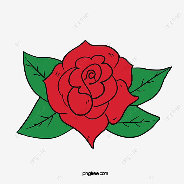 red roses vector hand painted red roses green leaves png and rh pngtree com rose vector art rose vectoriel gratuit
