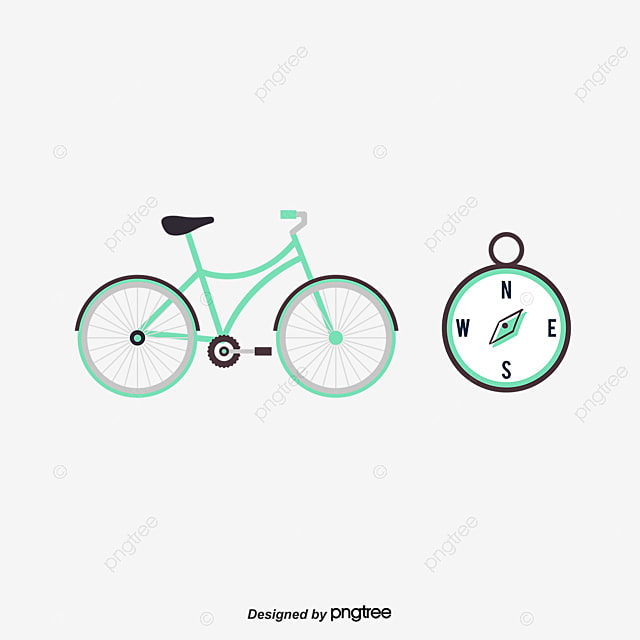 Red Cartoon Bike_3290293 on Rock Cycle Clipart