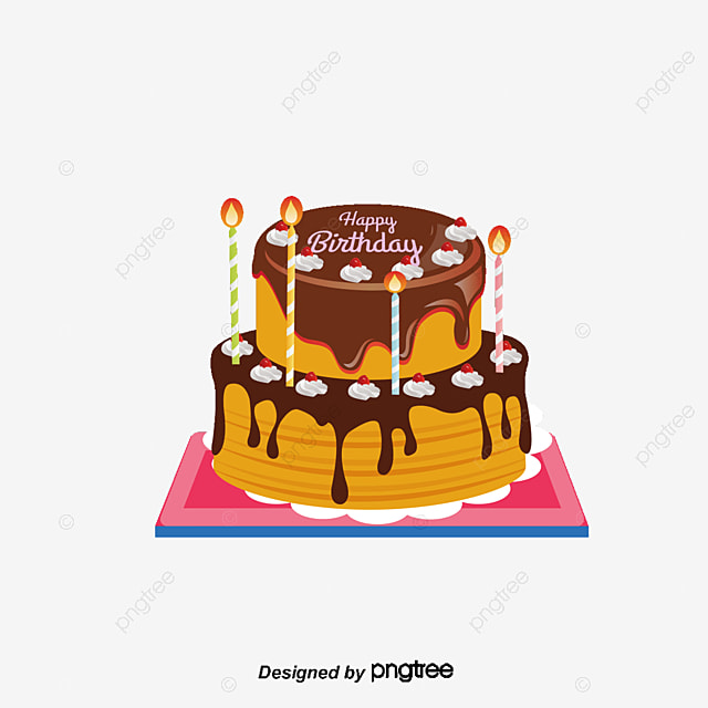 Delicious Birthday Cake Vector Clipart PNG And Copyright Complaint Download The Free
