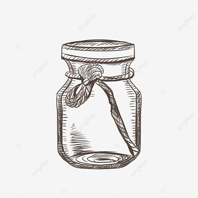 sketch jar vector  hand painted  bottle jar  sketch png transparent clipart image and psd file