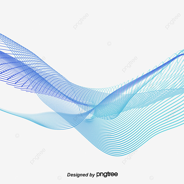 blue wavy lines radian line soft lines soft curve png and vector