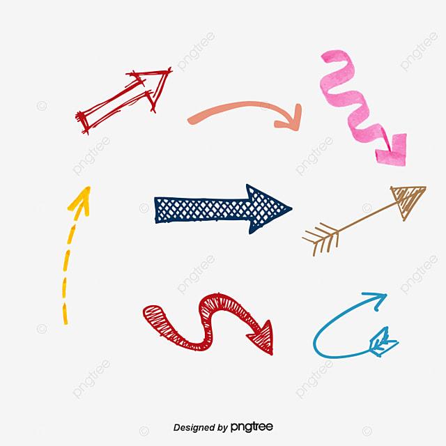 vector hand drawn arrow vector diagram hand hand drawn arrow png