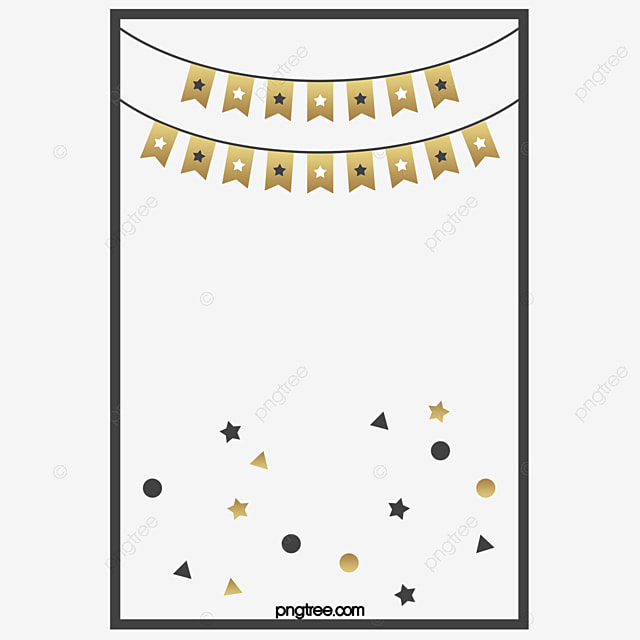 stars bunting birthday posters birthday clipart vector png