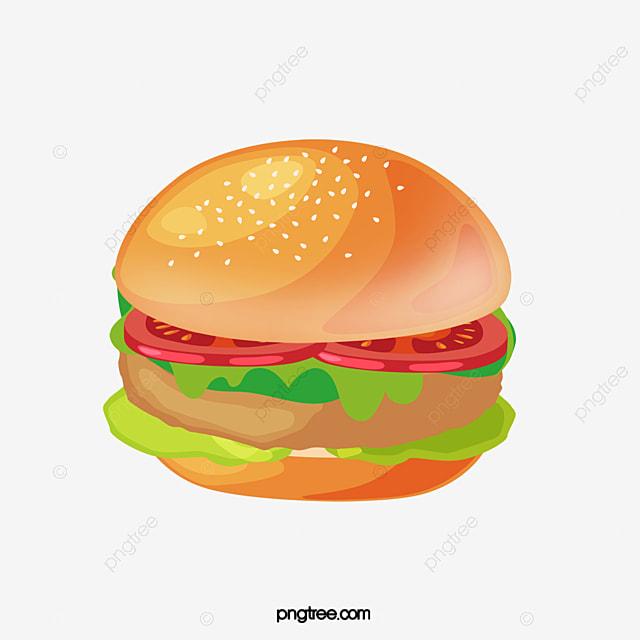 grilled chicken hamburger free material chicken clipart