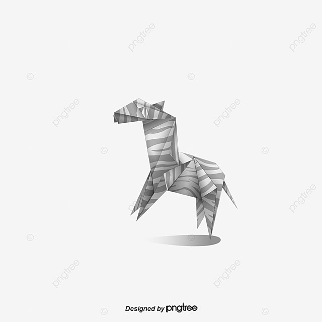 Vector Origami Horse Diagram PNG And