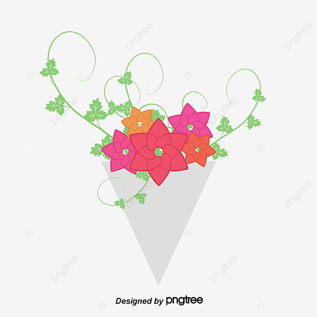 Vector flower, Cartoon, Hand, Bouquet PNG and Vector for ...