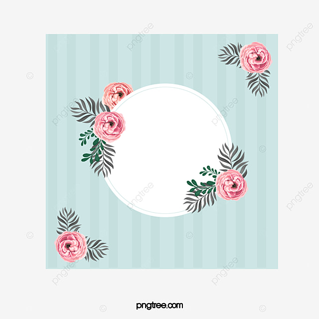 Hand-painted Fiscal Rose Flower Decorative Border, Rose