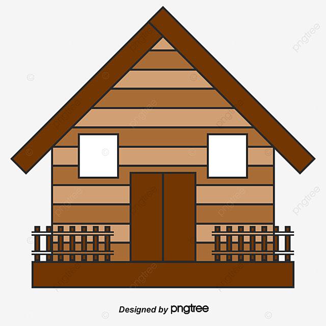 Cartoon forest hut clipart house