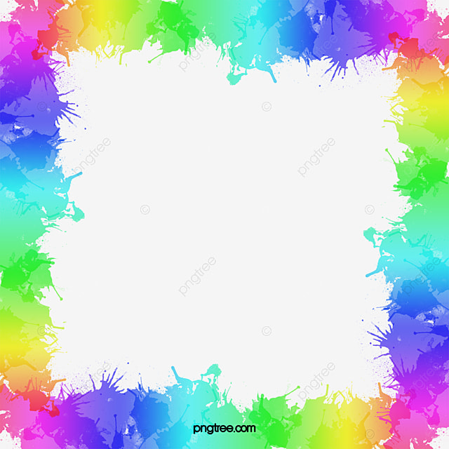 rainbow border hand colour gradient png image and clipart for