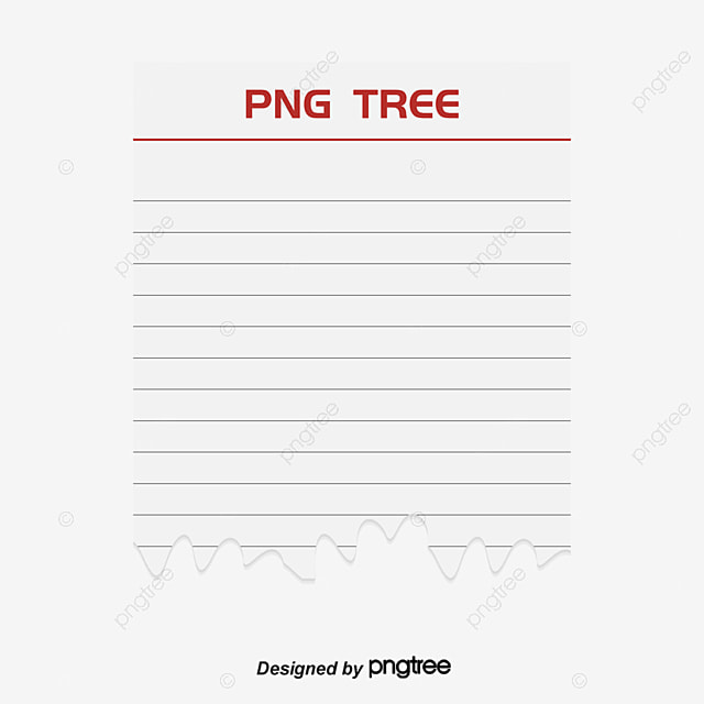 A Loose Sheet Of Paper Torn By Hand, Vector Png, Loose Leaf Paper, Notepad  Free PNG And Vector  Loose Leaf Paper Background
