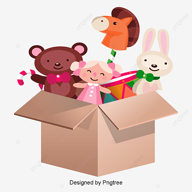 Toy Box Clip Art : Lovely toy box plush bear car png and