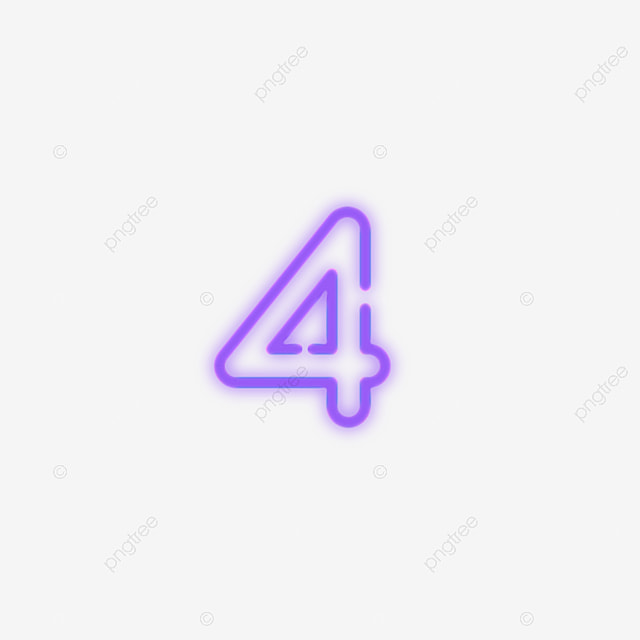 dibujado a mano número 4 número cuatro mano imagen png para descarga