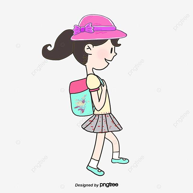 Chica de escuela y