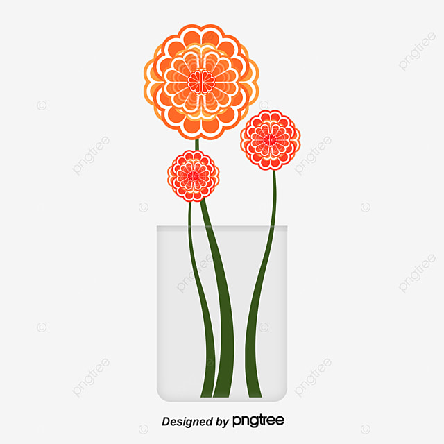 Bunch Of Flowers In A Vase Vase Flowers And Plants Flower Png And