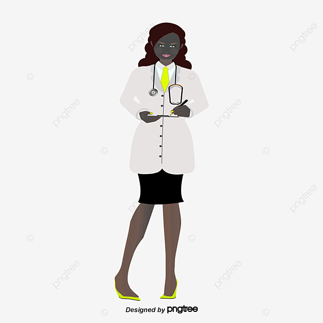 Black woman doctor, Vector Png, Doctor, Female Doctor PNG ...