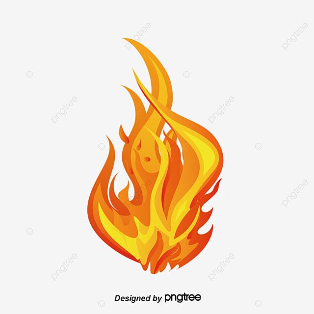 Les Flammes De Dessins Animés Flamme Dessin Centro De Feu Png Et