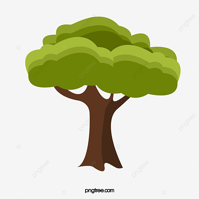 A árvore Padrão Decorativo Dos Desenhos Animados As árvores Anime