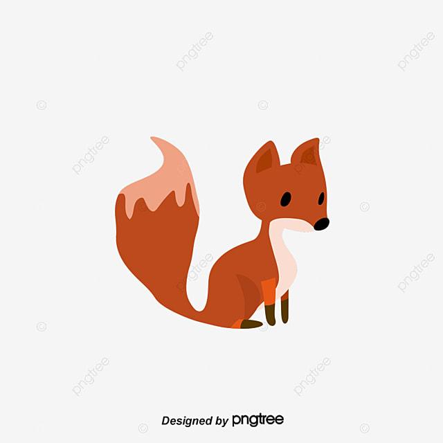 ناقلات الكرتون الثعلب الكرتون الحيوان الكرتون الرسم باليد نمط