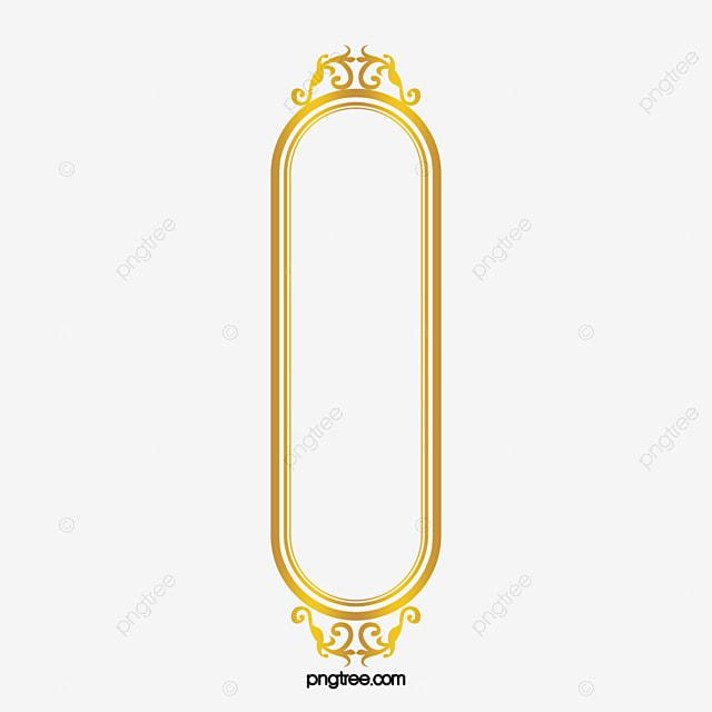 إطار المستطيل الذهبي ذهبي مشبك خالية تزين Png وملف Psd للتحميل مجانا