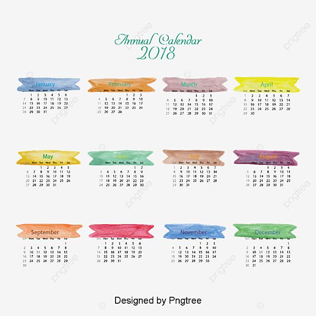 Watercolor Wind 2018 Desk Calendar Templates Calendar Calendar