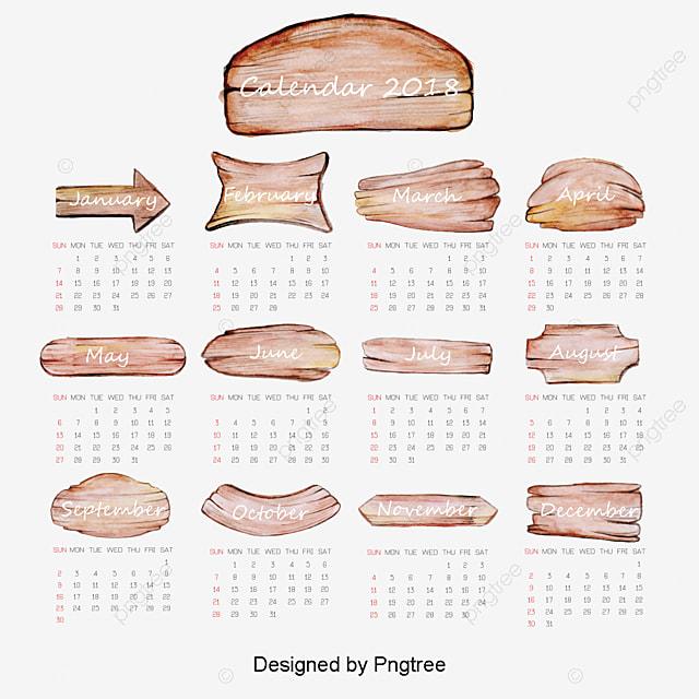watercolor board 2018 calendar templates calendar watercolor png and psd