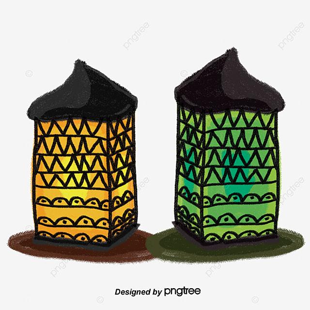 Islamic Lamp Decoration Pattern Magic Lamp Islamic Vector