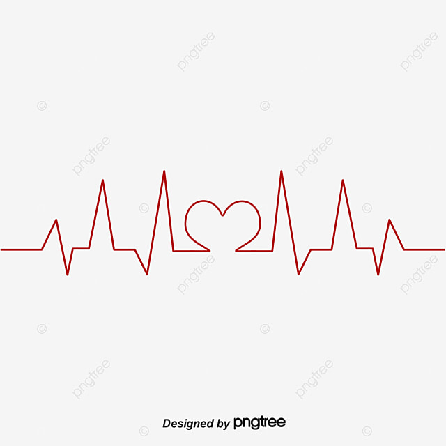 Heartbeat Line Public Welfare Red Love Png And Vector