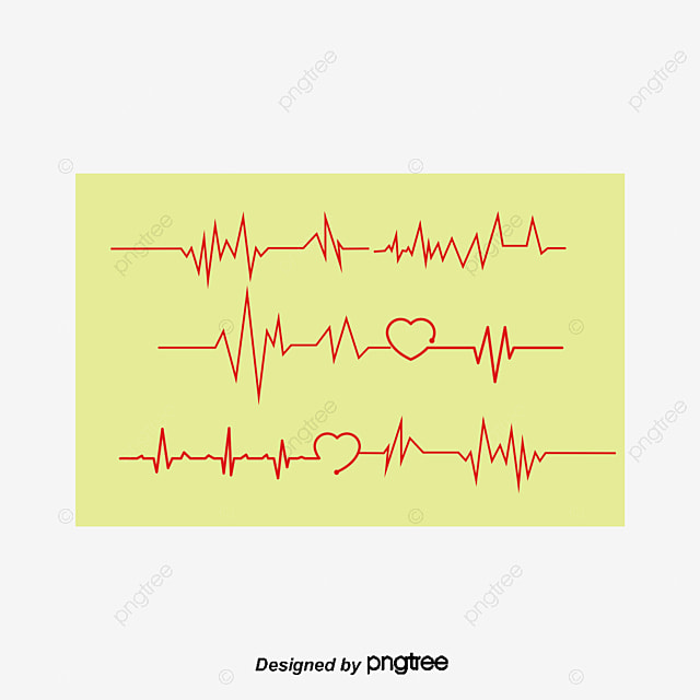 Ecg Line Public Welfare Red Love Heartbeat Line Png And