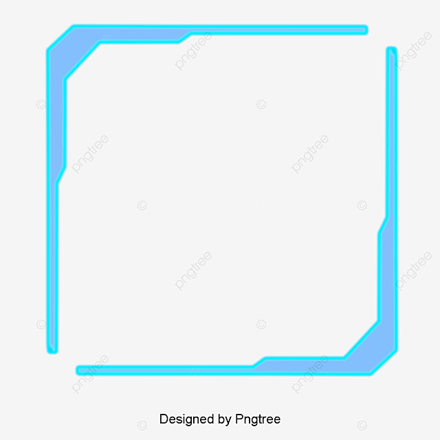 Blue Tech Free Border, Blue, Science And Technology, Frame PNG and ...