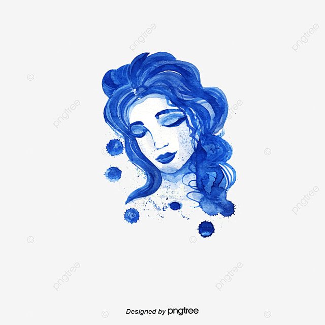 Beautiful Woman Face Vector The Womens Face Cartoon Girl Vector