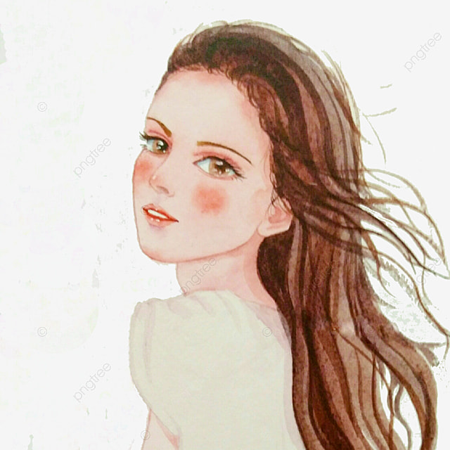 Girl Hairstyle Download Video: Illustration Girl Hairstyle, Line Drawing Style, Ladies
