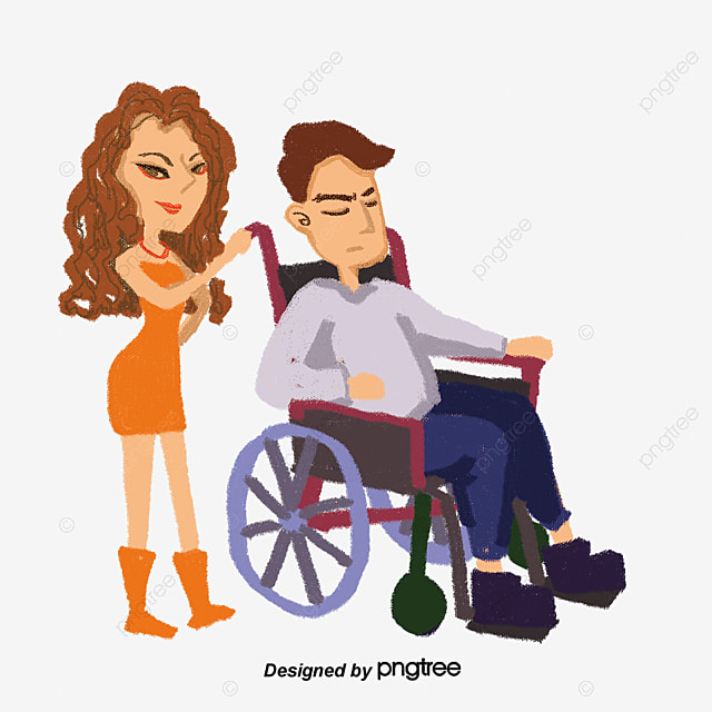 Grandpa in a wheelchair vector diagram character for Sedia a rotelle cartoon
