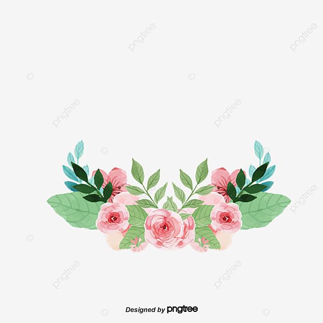 aquarelle de fleurs fleur rose rouge les feuilles image