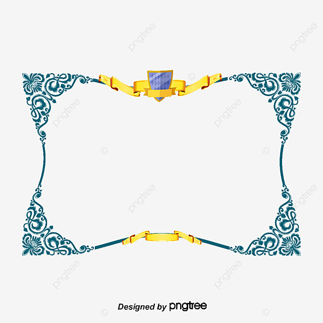 Certificate Of Shading Lace Vector Diagram Certificate Border