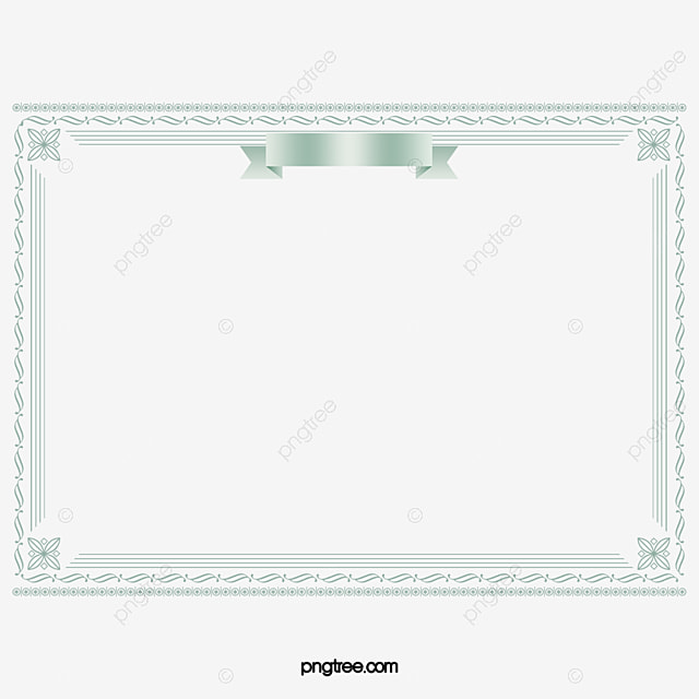 Certificate Border Design Vector Diagram Certificate Template