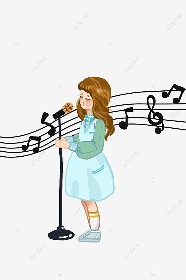 A Little Girl Singing Cartoons, Cartoon Kid, Woman, Singer ... Cartoon Kid Singer