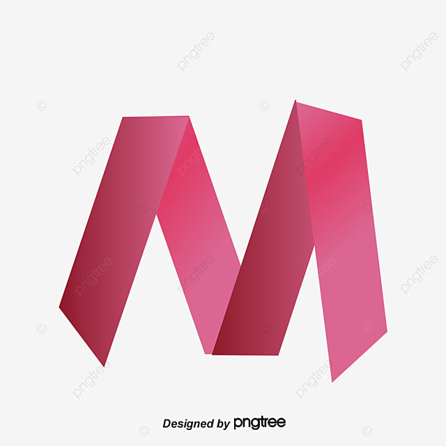 Red Origami Letter M Gules Letters PNG And Vector