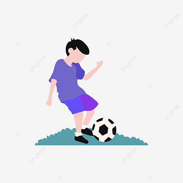 Nino Jugando Al Futbol Cartoon Jane Pen Mano Imagen Png Para