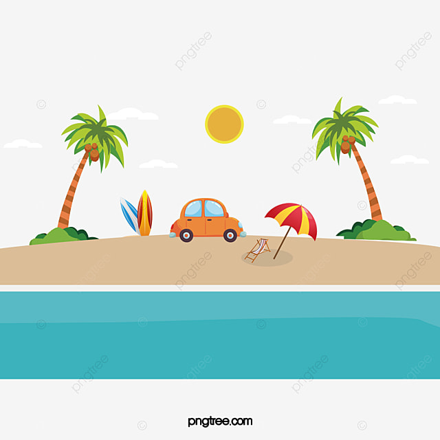 marine beach vector hand ocean beach sunlight png and vector for rh pngtree com beach vector black and white beach vector background