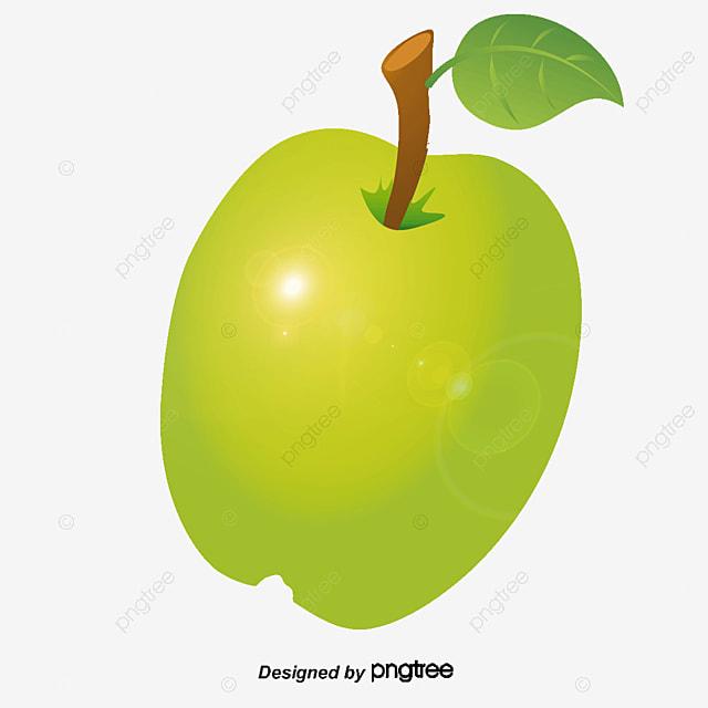 Una Manzana Verde, Diagrama Vectorial, Manzana Verde, Manzana ...