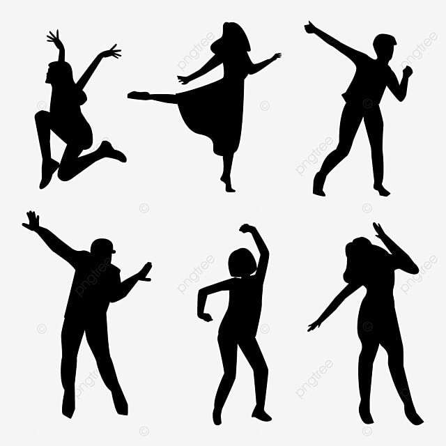 double dance silhouette dancing silhouette dance silhouette rh pngtree com dancer silhouette vector file dancer silhouette vector file