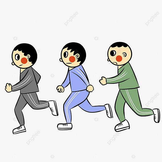 Runner Cartoon Hand Drawing Run Marathon PNG Image And Clipart