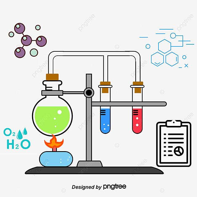 Experimento De Química De Dibujos Animados Icono La
