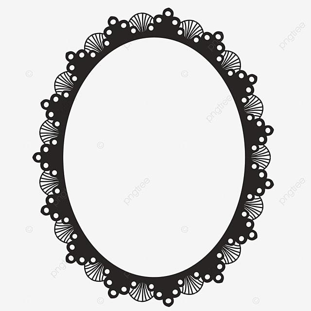 A Black And White Decorative Frame In Islamic Style, Islamic Style ...