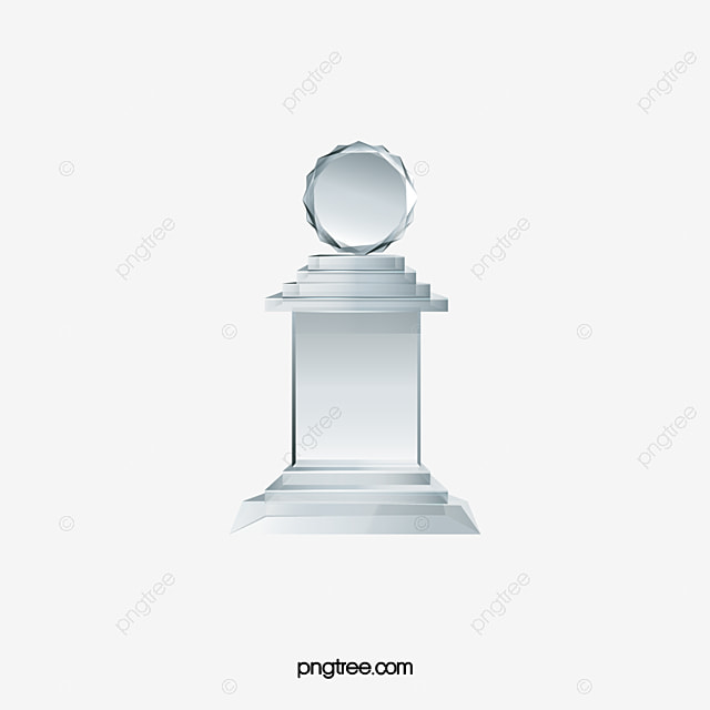 Crystal Trophy Medal Badge PNG And Vector