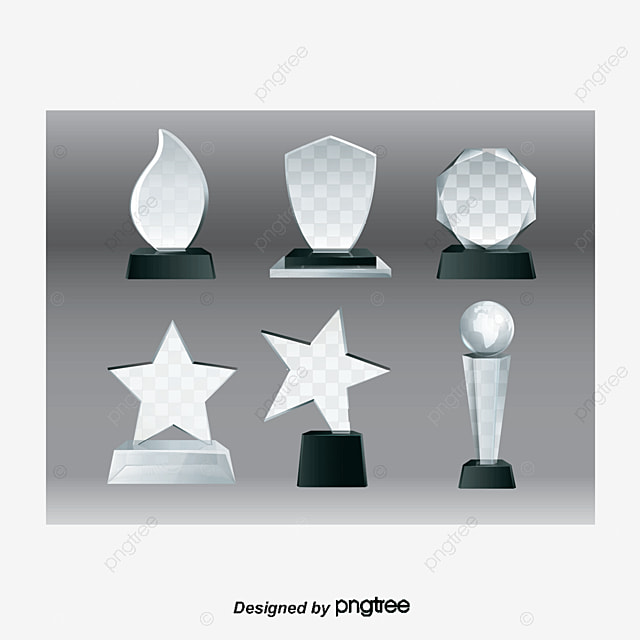 Crystal Vector Trophy Material Gold Cup Medal PNG And
