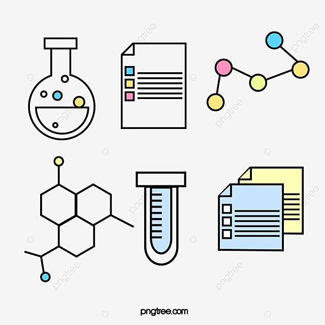 Ciências Da Vida O ícone DOS Desenhos Animados Ciências