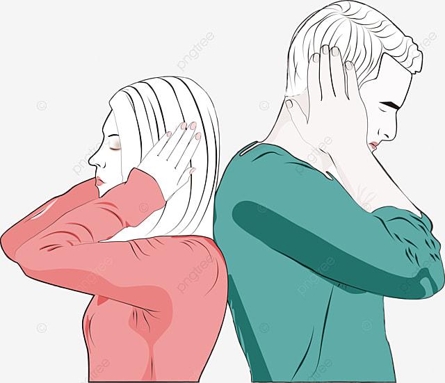 الخلافات العاطفية بين الزوج والزوجة حر PNG و PSD
