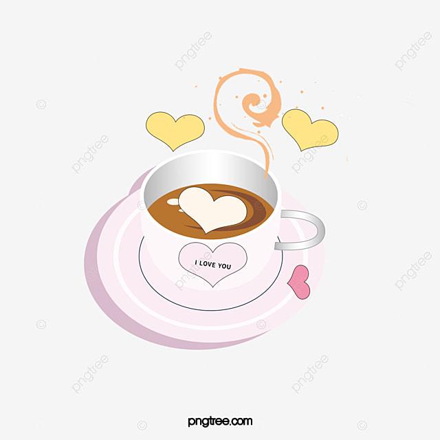 desenho pintado à mão livre material de xícara de chá de leite cor